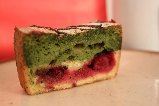004 Cake Framboise et Thé Matcha
