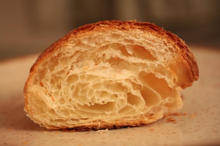 Cross-section of croissant from La Moulin de La Vierge