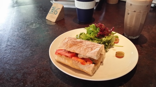 Tomato and Mozzarella sandwich from Necessary Provisions