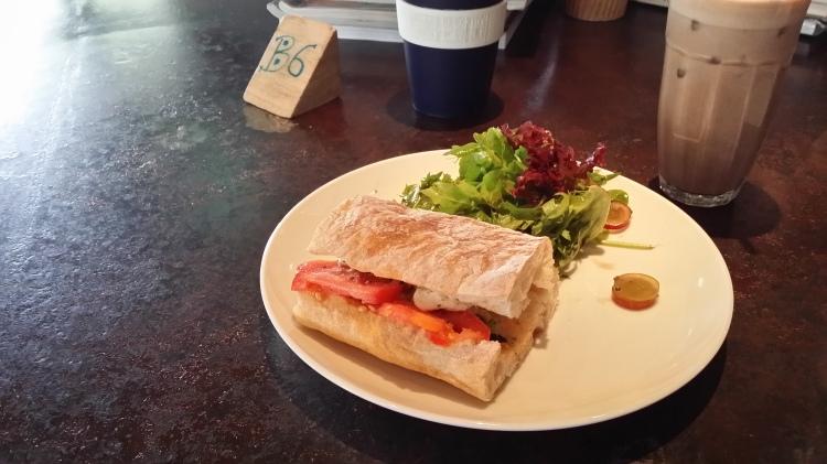 Tomato and Mozzarella sandwich from Necessary Provisions
